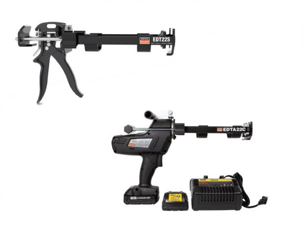 Elektrisch en mechanisch pistool