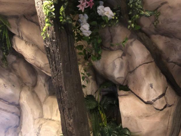 Betonnen rotswand