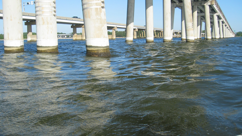 Bay Bridge water level